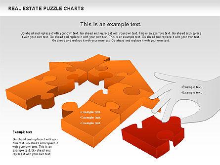 Real Estate Puzzle Charts, Slide 8, 00909, Puzzle Diagrams — PoweredTemplate.com
