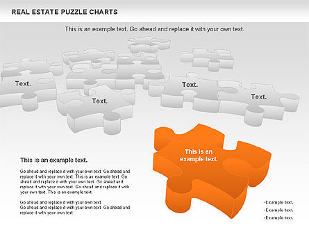 Real Estate Puzzle Charts, Slide 9, 00909, Puzzle Diagrams — PoweredTemplate.com