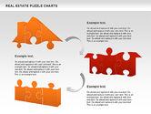 Puzzle Diagrams: Immobilien-Puzzle-Charts #00909
