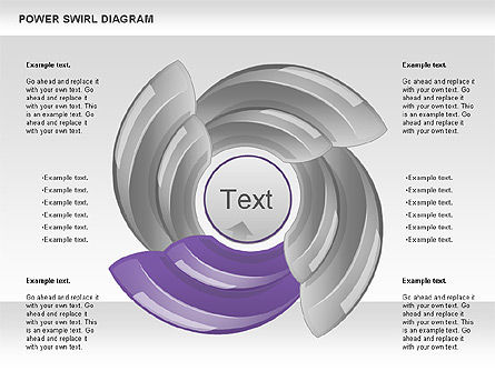Power Swirl Diagram, Slide 4, 00911, Business Models — PoweredTemplate.com