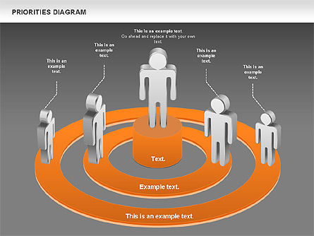 Priorities Diagram, Slide 15, 00914, Business Models — PoweredTemplate.com
