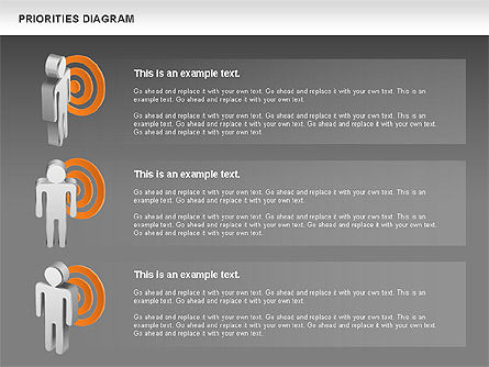 Priorities Diagram, Slide 16, 00914, Business Models — PoweredTemplate.com