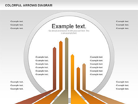 Color Arrows Diagram, 00915, Shapes — PoweredTemplate.com