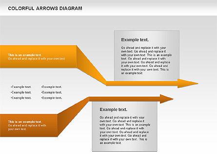 Color Arrows Diagram, Slide 10, 00915, Shapes — PoweredTemplate.com