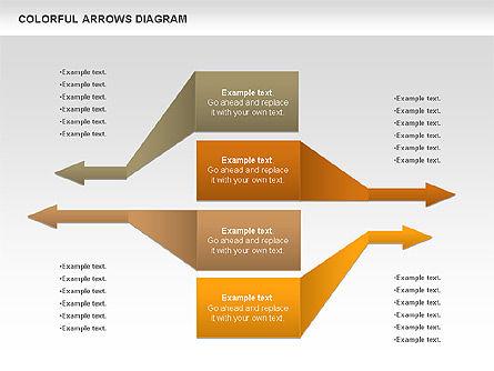 Color Arrows Diagram, Slide 11, 00915, Shapes — PoweredTemplate.com