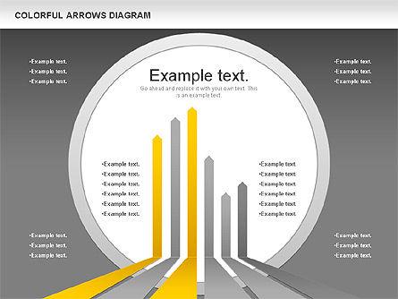Color Arrows Diagram, Slide 12, 00915, Shapes — PoweredTemplate.com