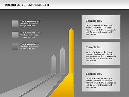 Color Arrows Diagram, Slide 13, 00915, Shapes — PoweredTemplate.com