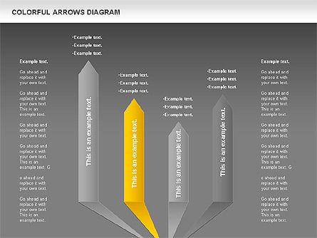 Color Arrows Diagram, Slide 14, 00915, Shapes — PoweredTemplate.com
