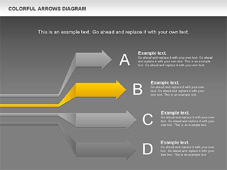 Color Arrows Diagram, Slide 15, 00915, Shapes — PoweredTemplate.com