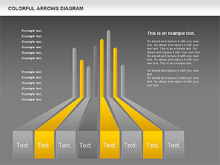 Color Arrows Diagram, Slide 16, 00915, Shapes — PoweredTemplate.com