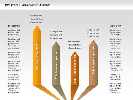 Color Arrows Diagram, Slide 3, 00915, Shapes — PoweredTemplate.com