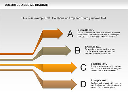 Color Arrows Diagram, Slide 4, 00915, Shapes — PoweredTemplate.com
