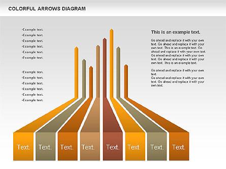 Color Arrows Diagram, Slide 5, 00915, Shapes — PoweredTemplate.com