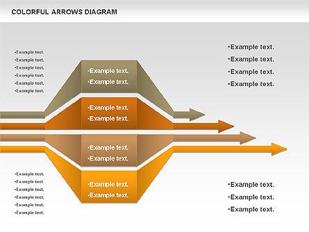 Color Arrows Diagram, Slide 7, 00915, Shapes — PoweredTemplate.com