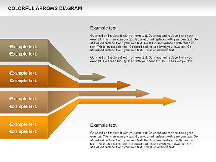 Color Arrows Diagram, Slide 8, 00915, Shapes — PoweredTemplate.com