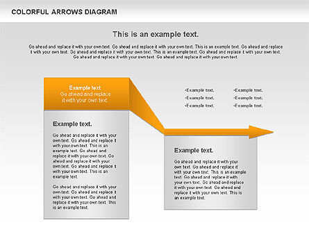 Color Arrows Diagram, Slide 9, 00915, Shapes — PoweredTemplate.com