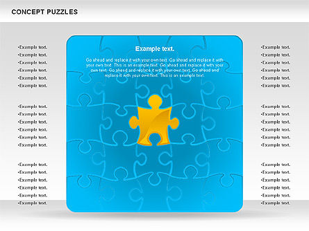Concept Puzzles Chart, 00916, Puzzle Diagrams — PoweredTemplate.com
