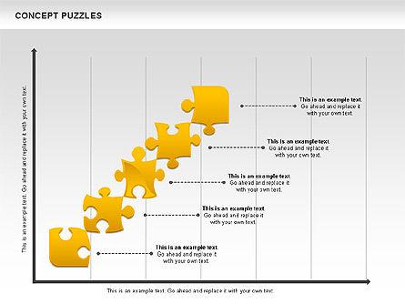 Concept Puzzles Chart, Slide 10, 00916, Puzzle Diagrams — PoweredTemplate.com