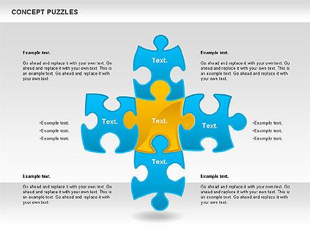 Concept Puzzles Chart, Slide 11, 00916, Puzzle Diagrams — PoweredTemplate.com