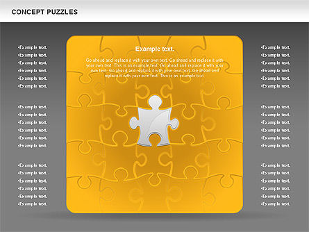 Concept Puzzles Chart, Slide 12, 00916, Puzzle Diagrams — PoweredTemplate.com