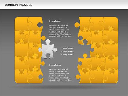Concept Puzzles Chart, Slide 13, 00916, Puzzle Diagrams — PoweredTemplate.com