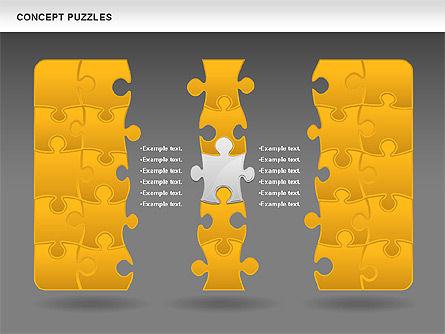 Concept Puzzles Chart, Slide 14, 00916, Puzzle Diagrams — PoweredTemplate.com