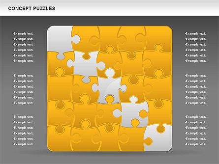 Concept Puzzles Chart, Slide 15, 00916, Puzzle Diagrams — PoweredTemplate.com