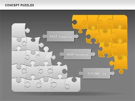 Concept Puzzles Chart, Slide 16, 00916, Puzzle Diagrams — PoweredTemplate.com
