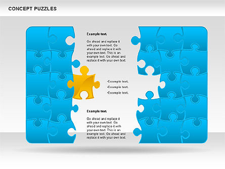 Concept Puzzles Chart, Slide 2, 00916, Puzzle Diagrams — PoweredTemplate.com