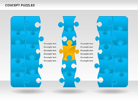 Concept Puzzles Chart, Slide 3, 00916, Puzzle Diagrams — PoweredTemplate.com