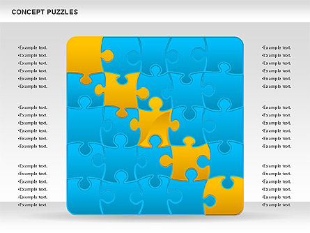 Concept Puzzles Chart, Slide 4, 00916, Puzzle Diagrams — PoweredTemplate.com