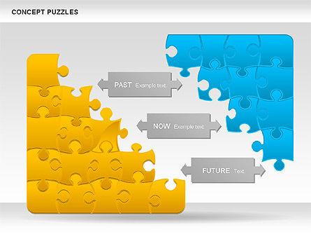 Concept Puzzles Chart, Slide 5, 00916, Puzzle Diagrams — PoweredTemplate.com