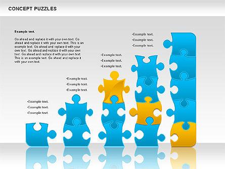 Concept Puzzles Chart, Slide 6, 00916, Puzzle Diagrams — PoweredTemplate.com