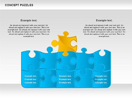 Concept Puzzles Chart, Slide 7, 00916, Puzzle Diagrams — PoweredTemplate.com