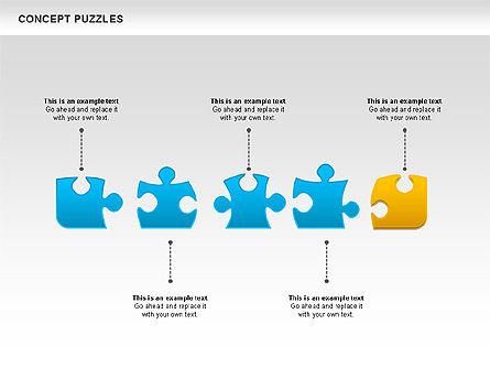 Concept Puzzles Chart, Slide 8, 00916, Puzzle Diagrams — PoweredTemplate.com