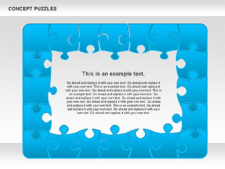 Concept Puzzles Chart, Slide 9, 00916, Puzzle Diagrams — PoweredTemplate.com