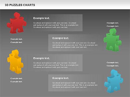 3D Puzzles Charts, Slide 10, 00917, Puzzle Diagrams — PoweredTemplate.com