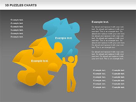 3D Puzzles Charts, Slide 11, 00917, Puzzle Diagrams — PoweredTemplate.com