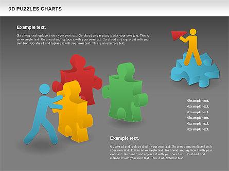 3D Puzzles Charts, Slide 12, 00917, Puzzle Diagrams — PoweredTemplate.com