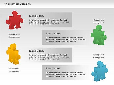 3D Puzzles Charts, Slide 2, 00917, Puzzle Diagrams — PoweredTemplate.com