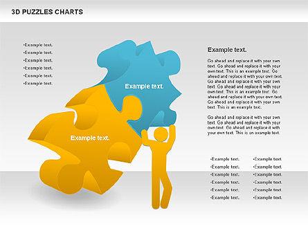 3D Puzzles Charts, Slide 3, 00917, Puzzle Diagrams — PoweredTemplate.com
