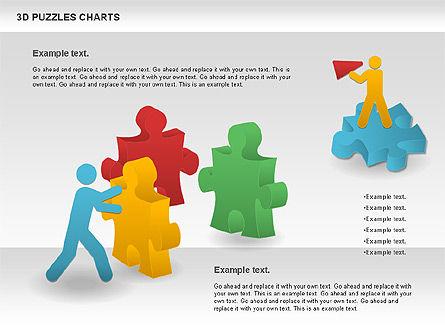 3D Puzzles Charts, Slide 4, 00917, Puzzle Diagrams — PoweredTemplate.com