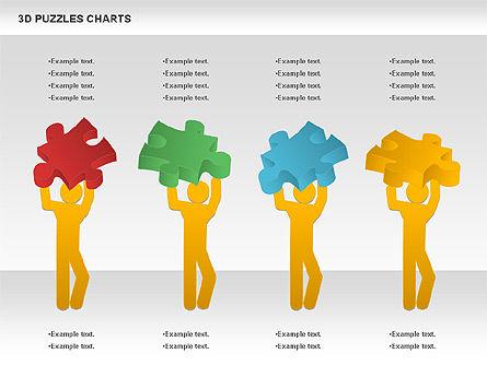 3D Puzzles Charts, Slide 5, 00917, Puzzle Diagrams — PoweredTemplate.com