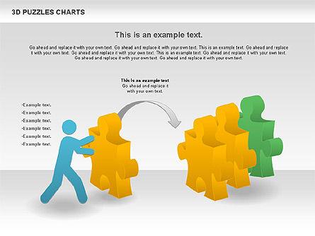 3D Puzzles Charts, Slide 6, 00917, Puzzle Diagrams — PoweredTemplate.com