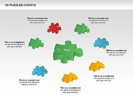 3D Puzzles Charts, Slide 7, 00917, Puzzle Diagrams — PoweredTemplate.com