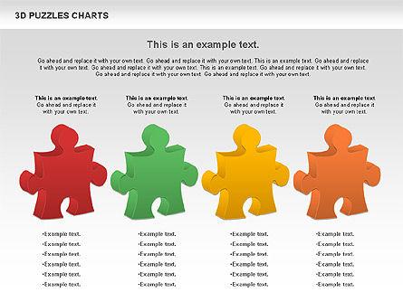 3D Puzzles Charts, Slide 8, 00917, Puzzle Diagrams — PoweredTemplate.com