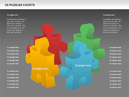 3D Puzzles Charts, Slide 9, 00917, Puzzle Diagrams — PoweredTemplate.com