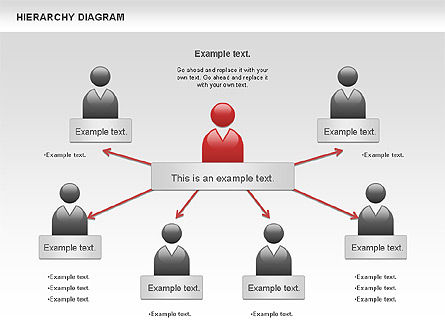 Hierarchy Diagram, Slide 9, 00919, Business Models — PoweredTemplate.com