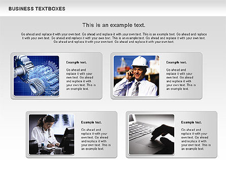 Business Text Boxes, 00920, Text Boxes — PoweredTemplate.com