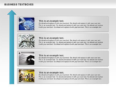 Business Text Boxes, Slide 2, 00920, Text Boxes — PoweredTemplate.com